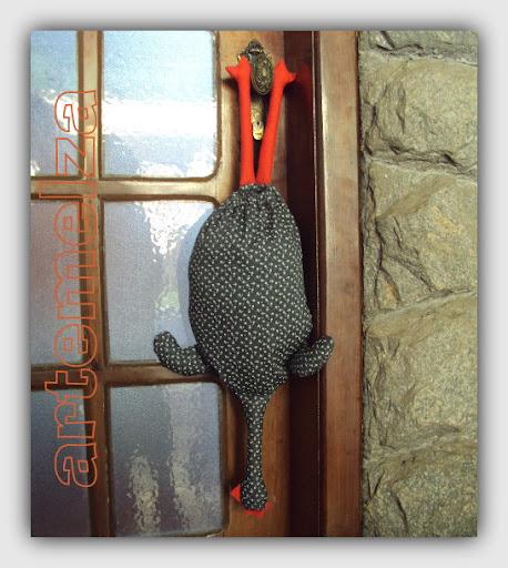 artemelza - porta saco frango depenado