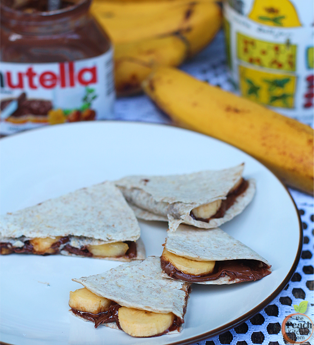 Banana Nutella Quesadilla