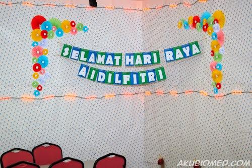 feature wall sambutan hari raya