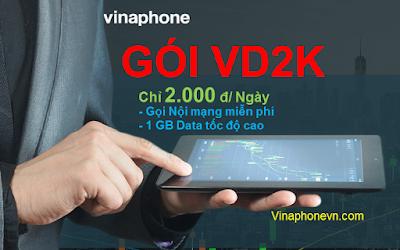 Cách nhận 1GB Data tốc độ cao, miễn phí gọi nội mạng chỉ 2.000đ/ngày gói VD2K Vinaphone