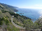 Ocean views along the fire road going down to Highway 1