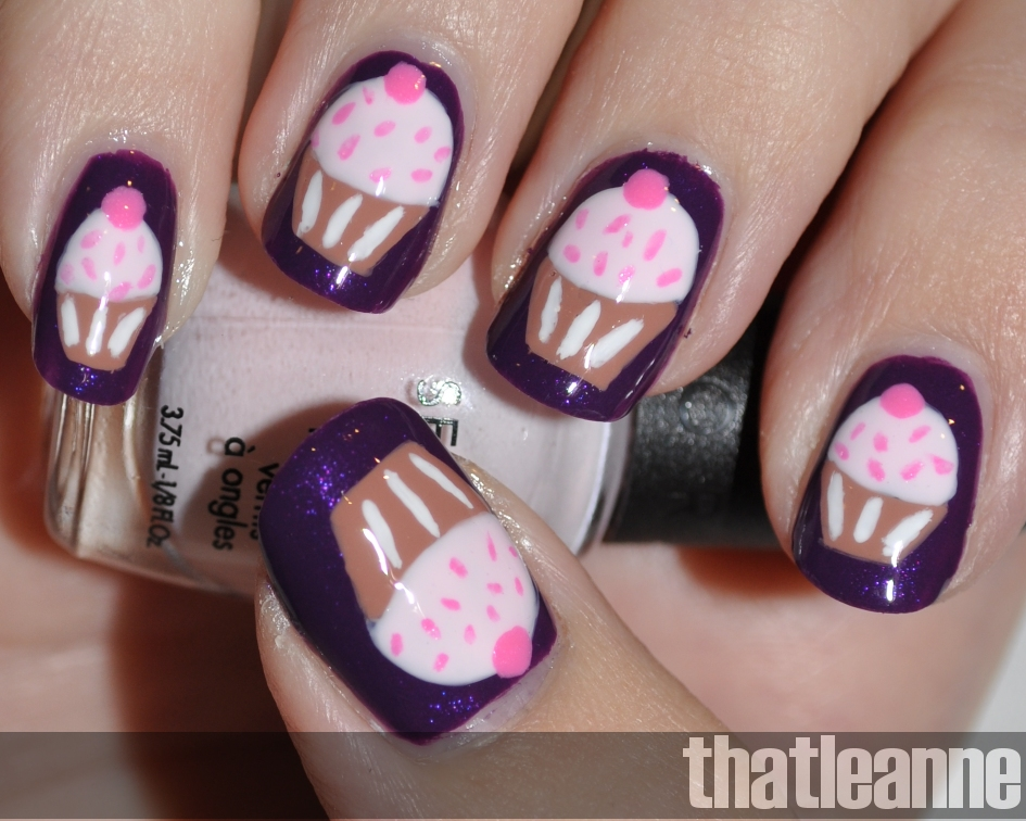 Sephora By Opi Urban Ballerina Swatches With Cupcakes Easy Nail Art