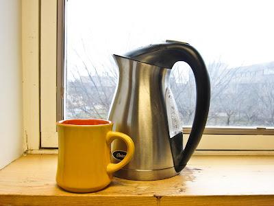 Kettle and mug