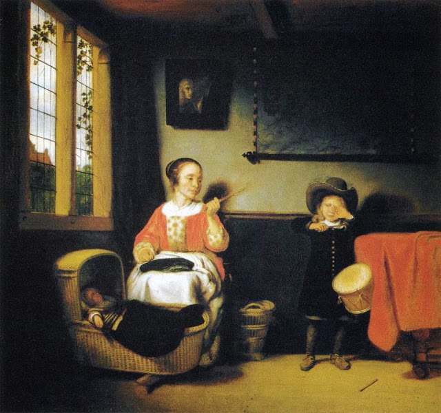 Nicolaes Maes - The Naughty Drummer Boy