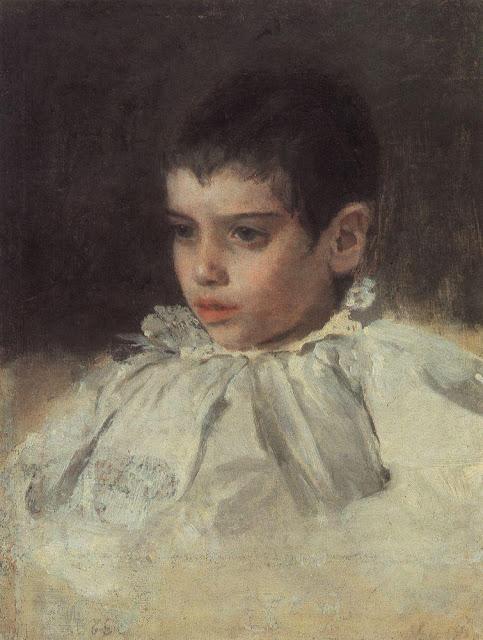 Valentin Serov - Lyalya (Adelaide Yakovlevna) Simonovic. 1880