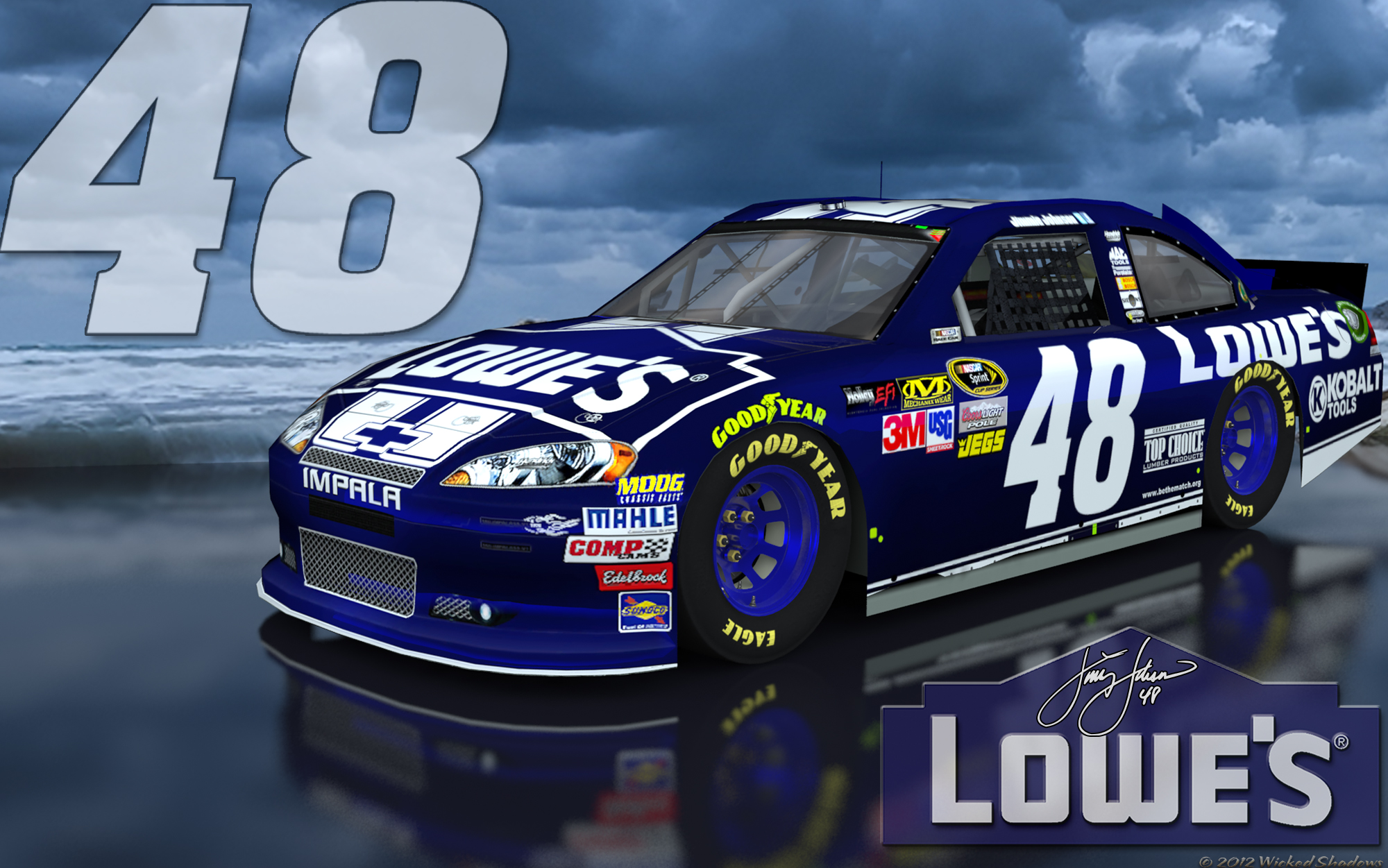 16x10 Alt Jimmie Johnson Lowes 48 Brighter Outdoor Wallpaper