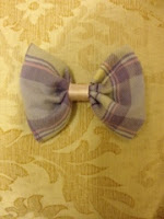 picture of fabric bow made from old pyjamas