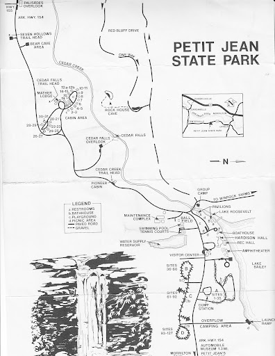 1980s Map of Petit Jean State Park