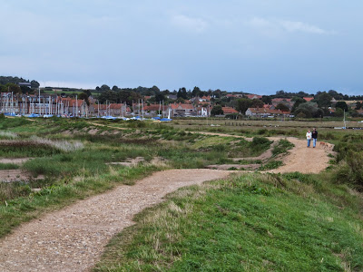 Repaired defence bank close to Blakeney