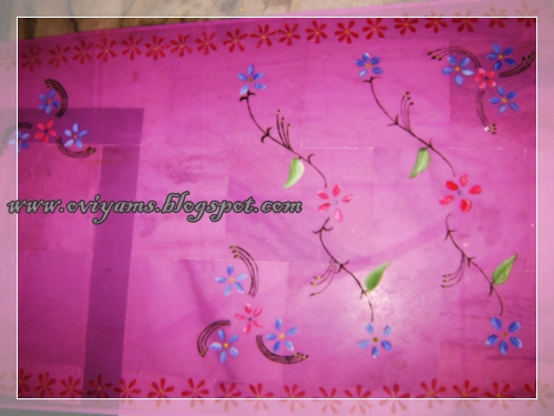Oviyam glass painting art crafts fabric painting for Using fabric paint on glass