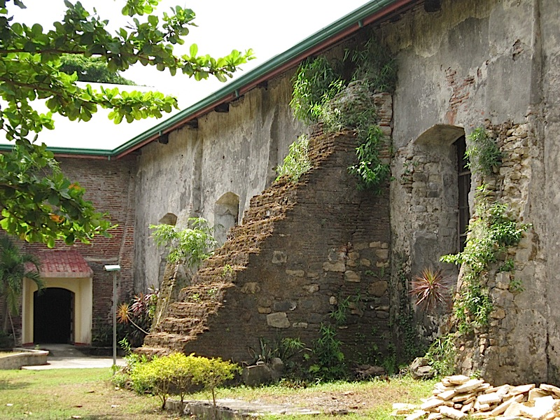 old buttress of St. Michael the Archangel Catholic Church in Bacnotan