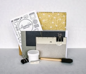 Hardcover bookbinding kit
