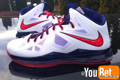 nike lebron 10 pe usa basketball 3 05 PE Spotlight: Nike LeBron X USA Basketball Red Swoosh