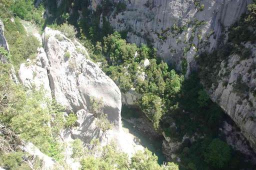 Les gorges du Verdon photographiées de la brèche Imbert