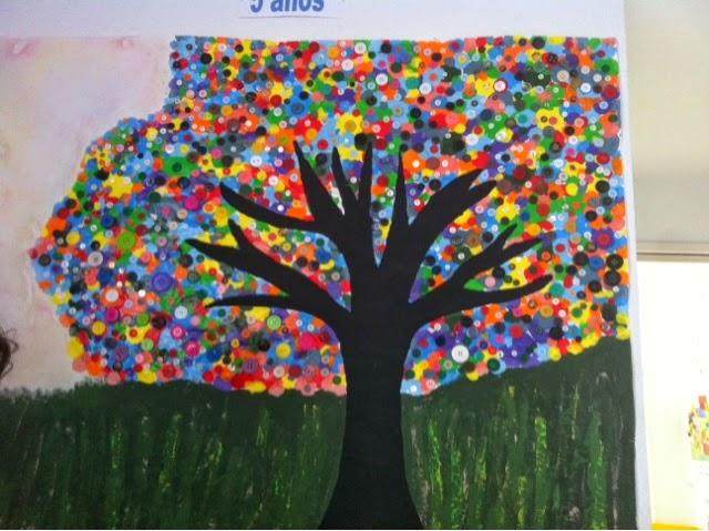 Aula de infantil mural primavera for Un mural facil de hacer