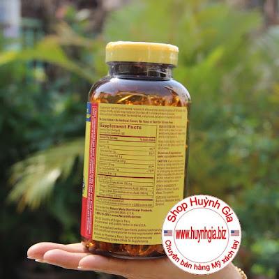 Công dụng Nature Made Fish Oil 1200 mg 360 mg OMEGA-3 200 viên www.huynhgia.biz