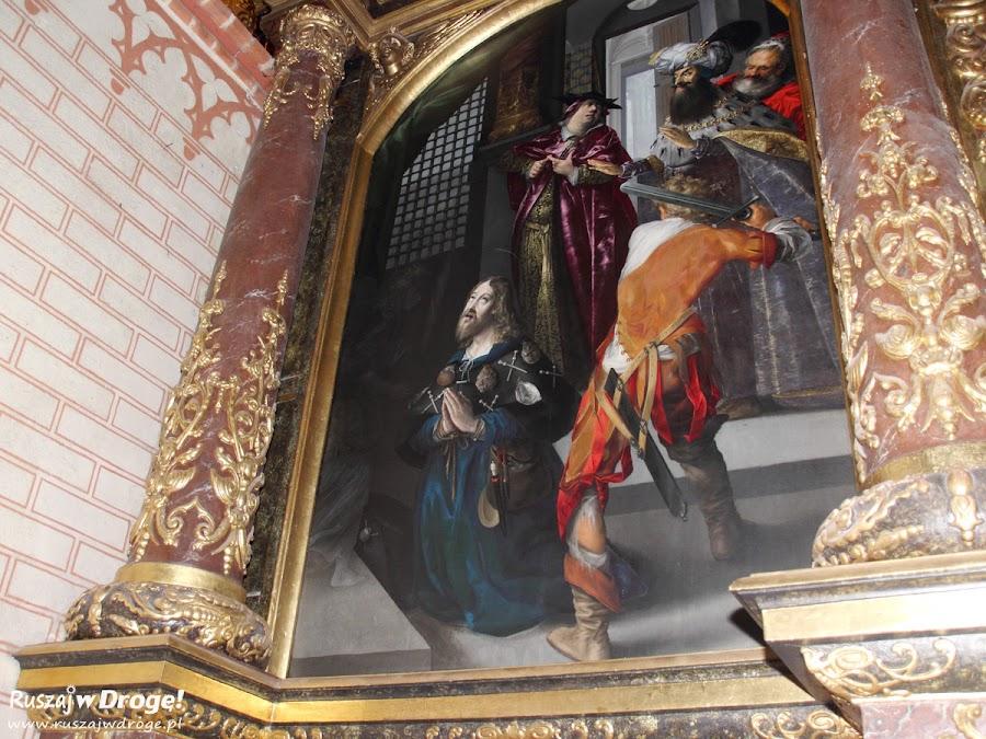 Katedra w Pelplinie - obraz z aniołem