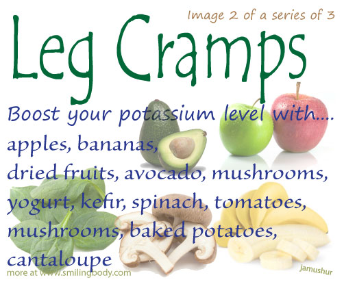 Potassium for leg cramps how much to take