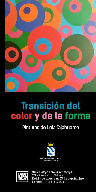 Exposición de pinturas de Lola Tajahuerce en el Ayuntamiento de L'Alcora
