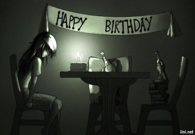 ảnh sinh nhật buồn