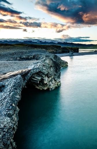 Grey sea cliffs