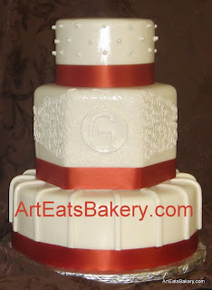Red And White Wedding Cakes 44 Fancy Modern round three tier