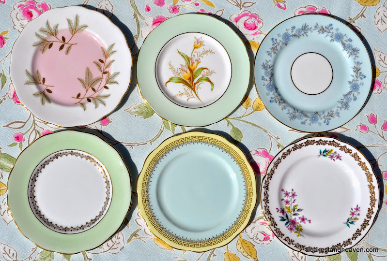 Pastels Tea Set Tea Plates