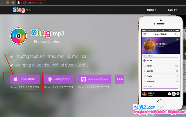 tải ứng dụng nghe nhạc zing mp3 từ kho ứng dụng iphone