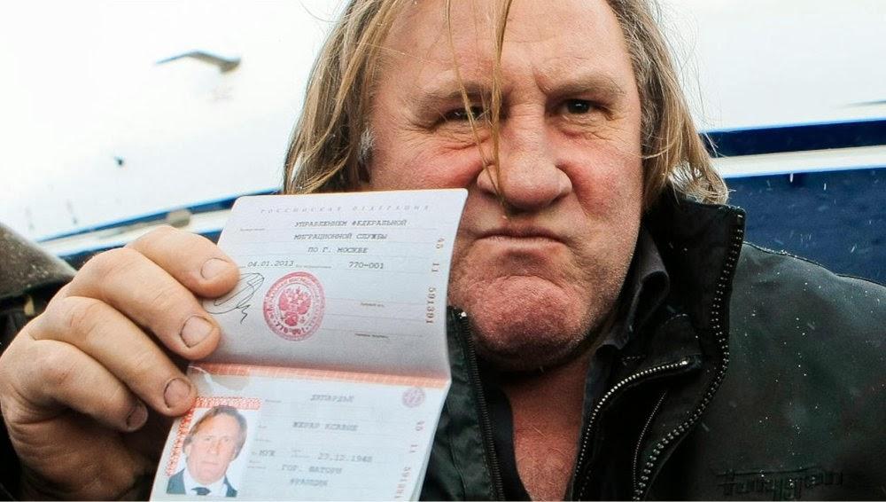 Gérad Depardieu roule en Dnepr