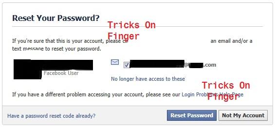 Facebook forgot password loophole - Tricks On Finger