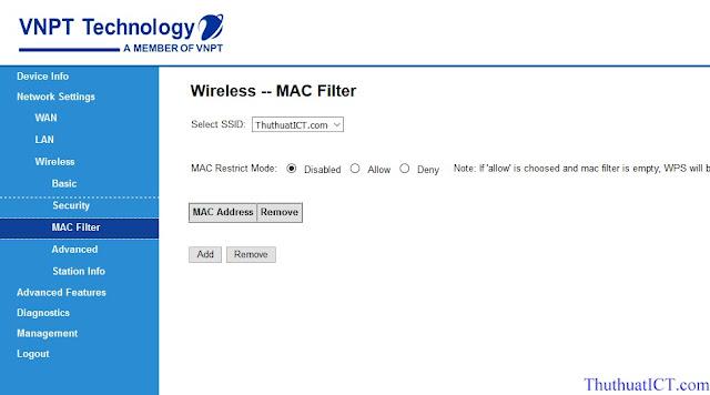 [Quản trị mạng] Các tính năng Router Wi-Fi (GW040 của VNPT) có thể bạn chưa biết? Loc%2Bdia%2Bchi%2Bmac