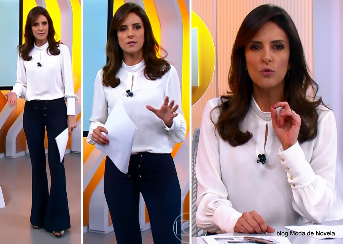 moda do programa Hora 1, look da Monalisa Perrone dia 10 de dezembro