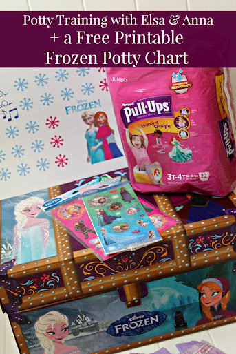 Potty Training with Elsa & Anna + a free printable Disney Frozen potty chart! #PUBigKid