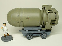 Big bomb on trailer Military Science Fiction war game terrain and scenery - UniversalTerrain.com