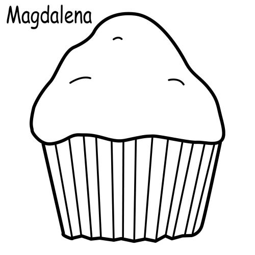 Magdalenas para colorear - Imagui