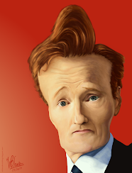 Caricature of Conan O'Brien