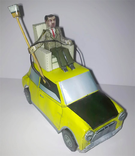Mr. Bean and His Mini Papercraft