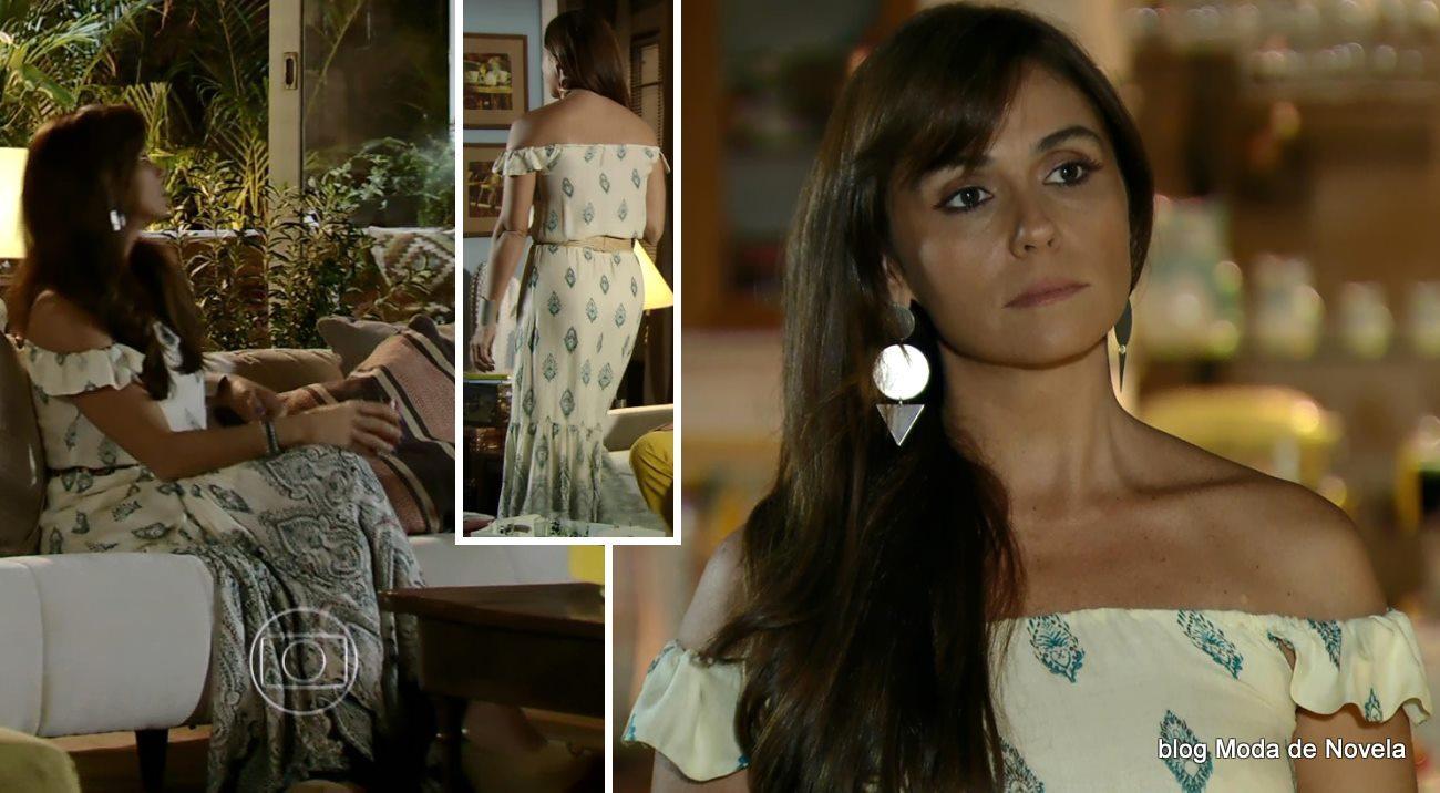 moda da novela Em Família - look da Clara dia 25 de abril