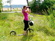 birdwatching et trottinette
