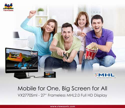 ViewSonic VX2770SML-LED MHL 2.0 Displays