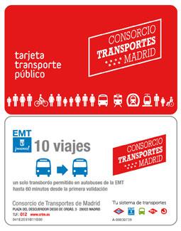Nuevo billete EMT de 10 viajes con transbordo Bus+Bus