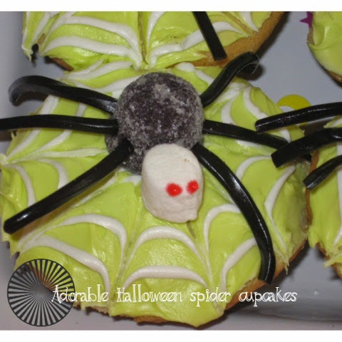 Spider cupcakes, Halloween cupcakes, easy Halloween cupcakes, cookingwiththestylesisters