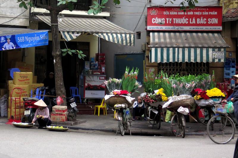 Flower vendors' bikes, Old Quarter