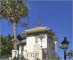 Sizilien - Die Casina delle Palme als Beispiel für den Jugendstil in Trapani.