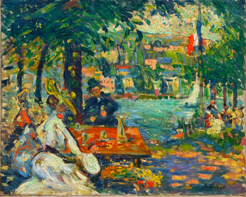 Robert Antoine Pinchon - An Afternoon at Ile aux Cerises, Rouen