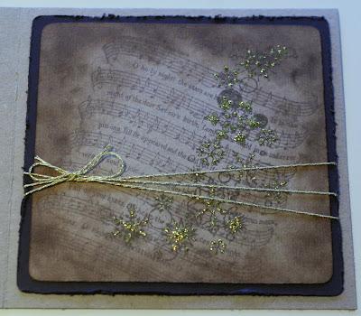Ruskea-kultainen joulukortti