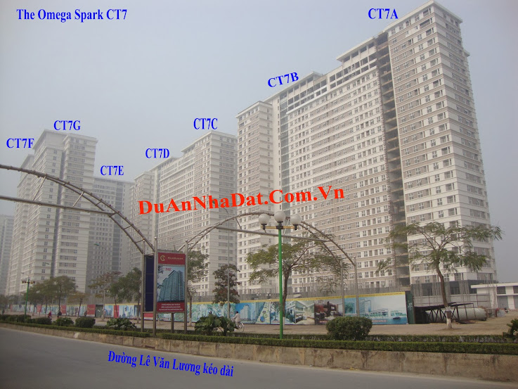 chung cư dương nội ct7 nhìn từ Lê Văn Lương kéo dài