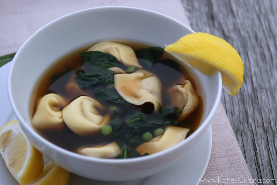 Sausage Tortellini Soup w/ Spinach & Peas