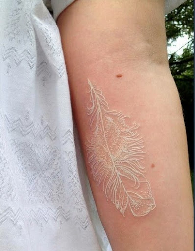 50 gorgeous white ink tattoos for Fresh white ink tattoo