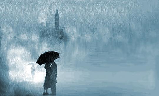 thơ mưa tình yêu lãng mạn
